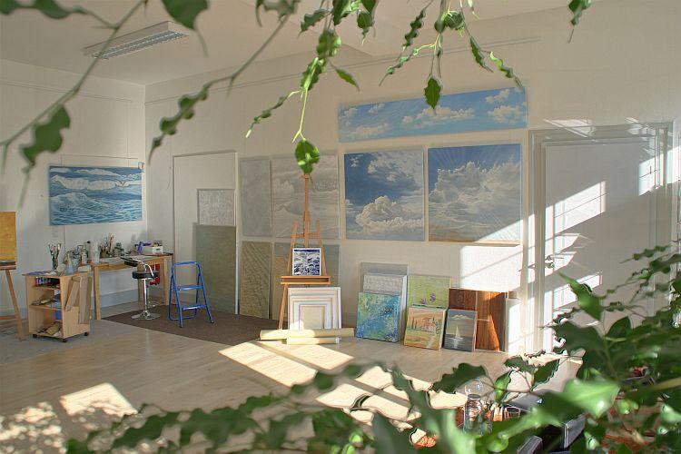 Atelier-Innenansicht Kunstakademie Wertheim, Akademie für Fotorealismus, Atelier Leoni