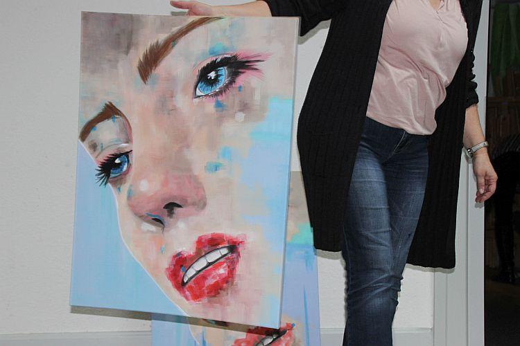 Malen in der Kunstakademie Wertheim, Akademie für Fotorealismus, Atelier Leoni