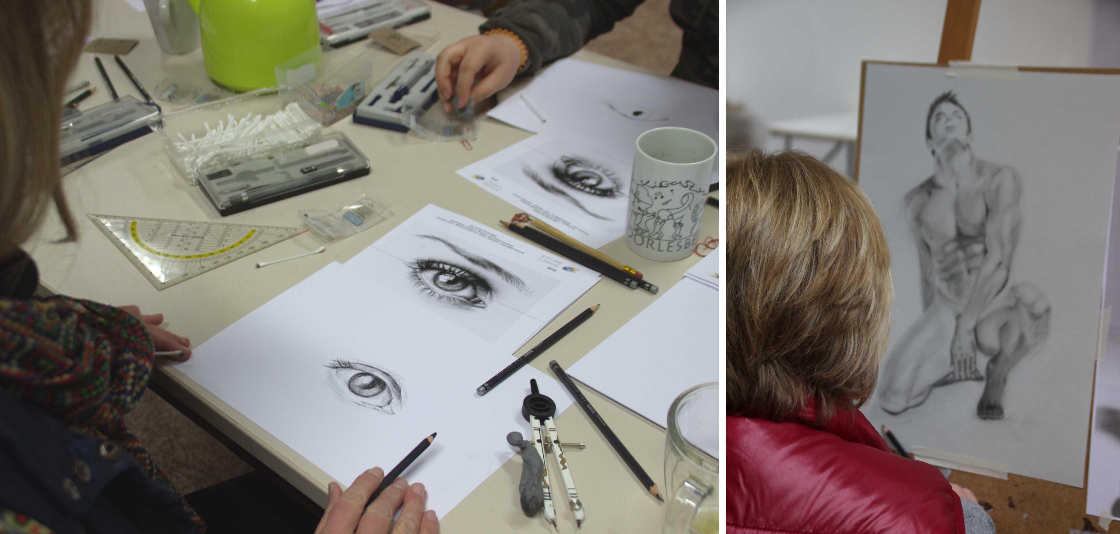 Kurs Profi-Zeichnen mit Bleistift für Künstler, Kunstakademie Wertheim, Akademie für Fotorealismus, Atelier Leoni