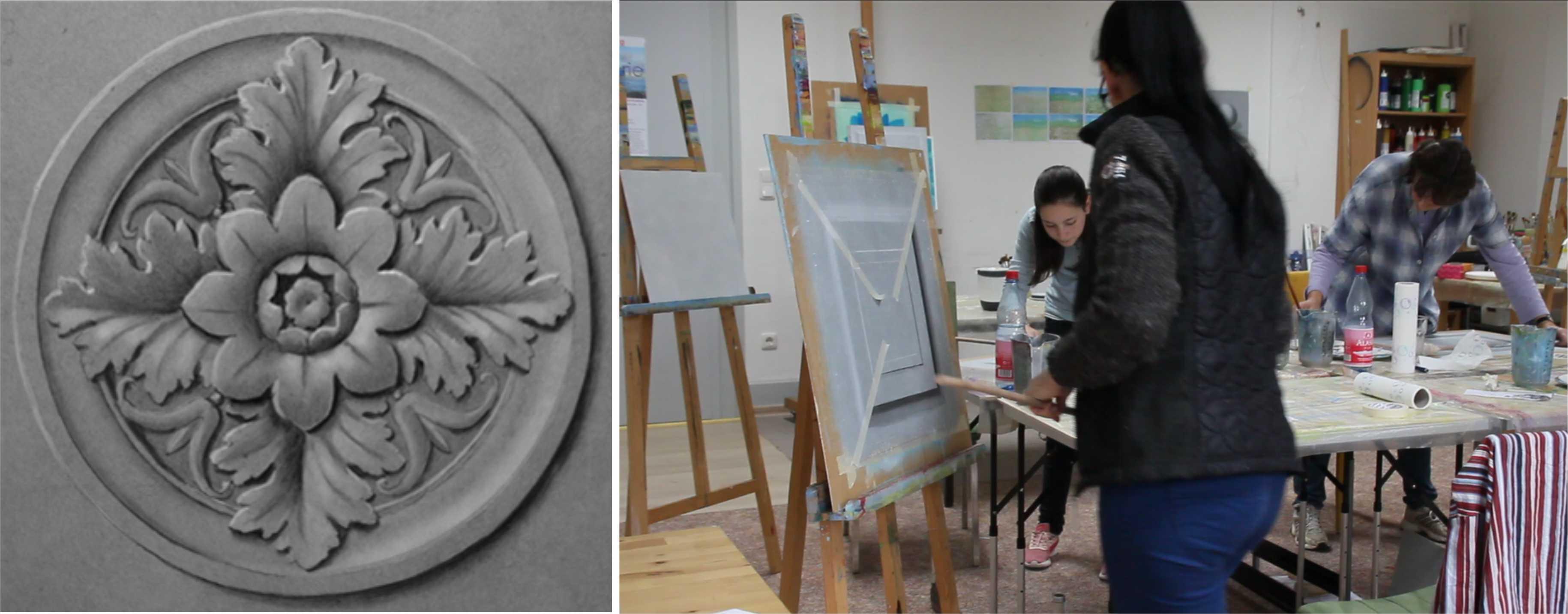 Kurs Graumalerei / Grisaille für Künstler, Kunstakademie Wertheim, Akademie für Fotorealismus, Atelier Leoni