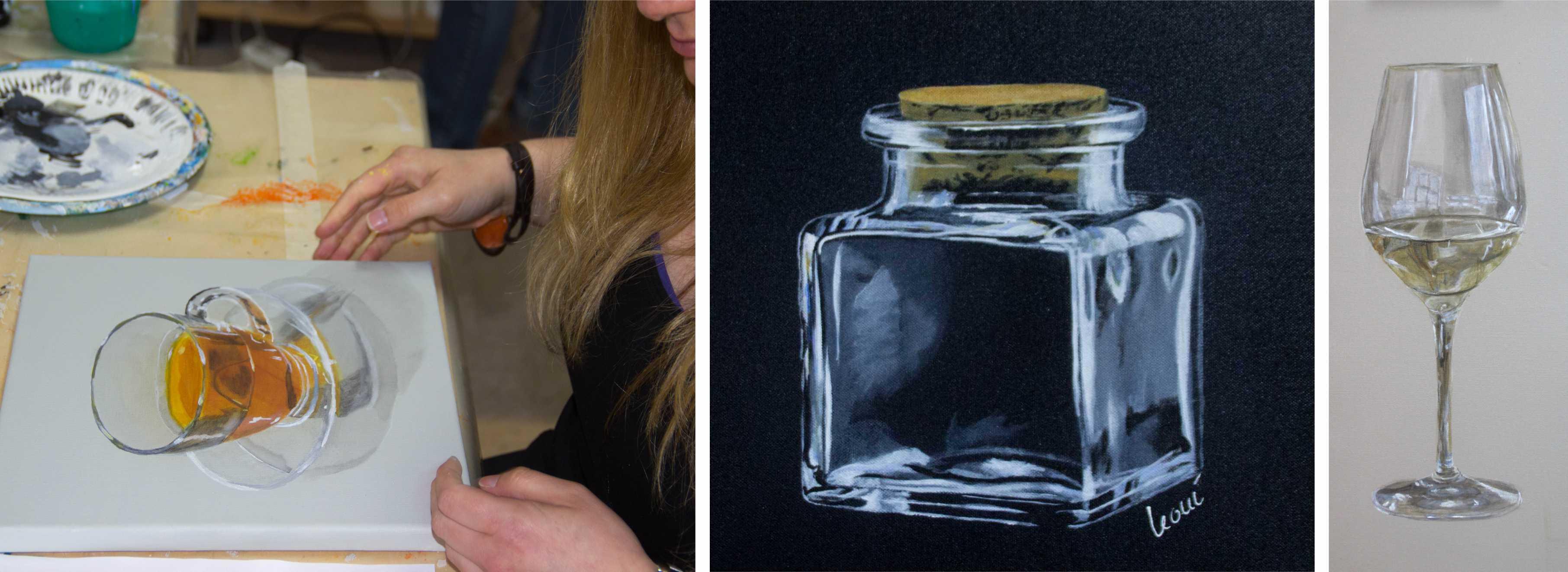 Kurs Spezielle Maltechniken - Transparenz für Künstler, Kunstakademie Wertheim, Akademie für Fotorealismus, Atelier Leoni
