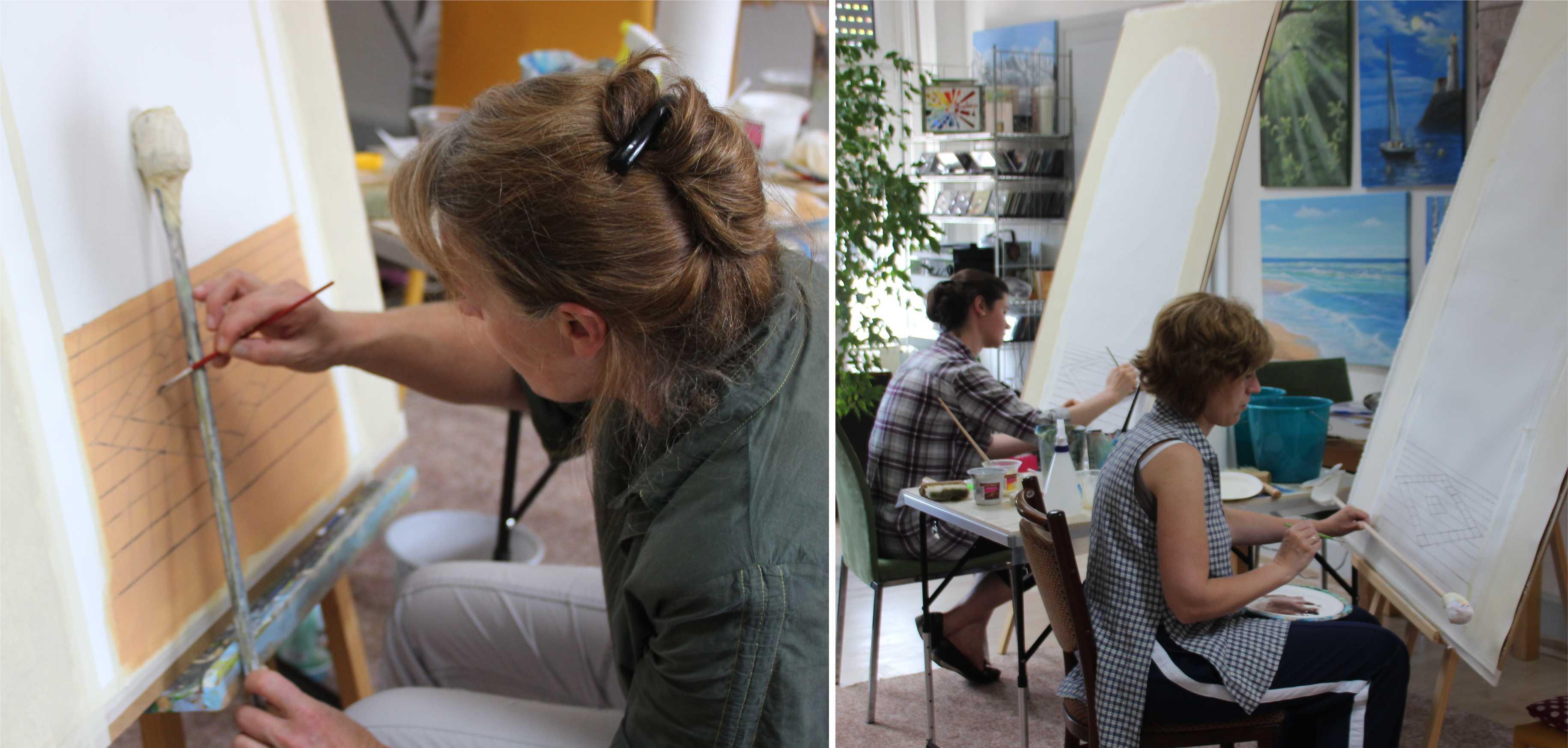 Kurs Trompe l'oeil (Illusionsmalerei) für Künstler, Kunstakademie Wertheim, Akademie für Fotorealismus, Atelier Leoni