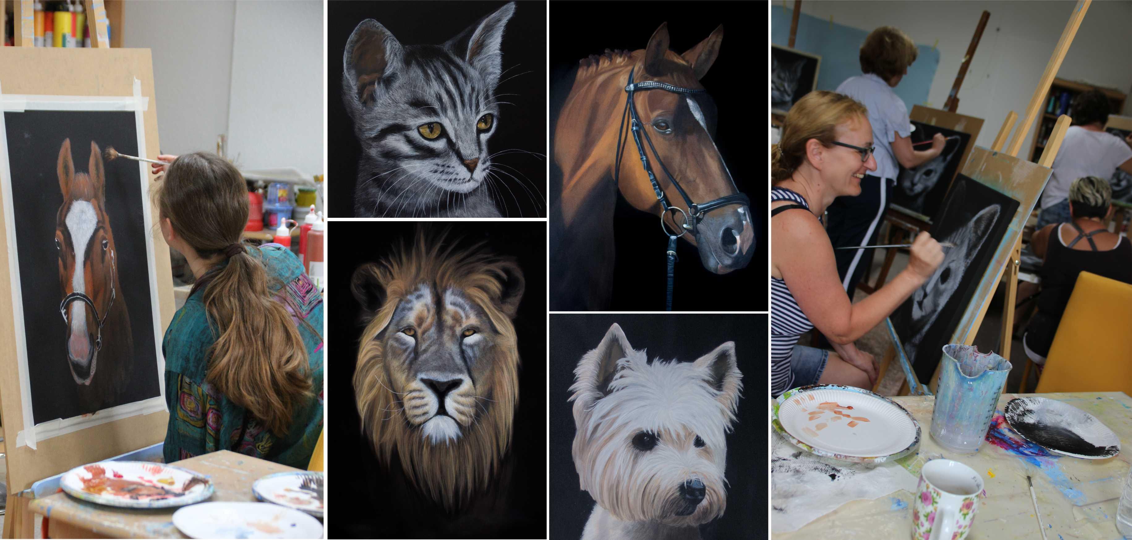 Kurs Wildlife - Tiermalerei für Künstler Kunstakademie Wertheim, Akademie für Fotorealismus, Atelier Leoni
