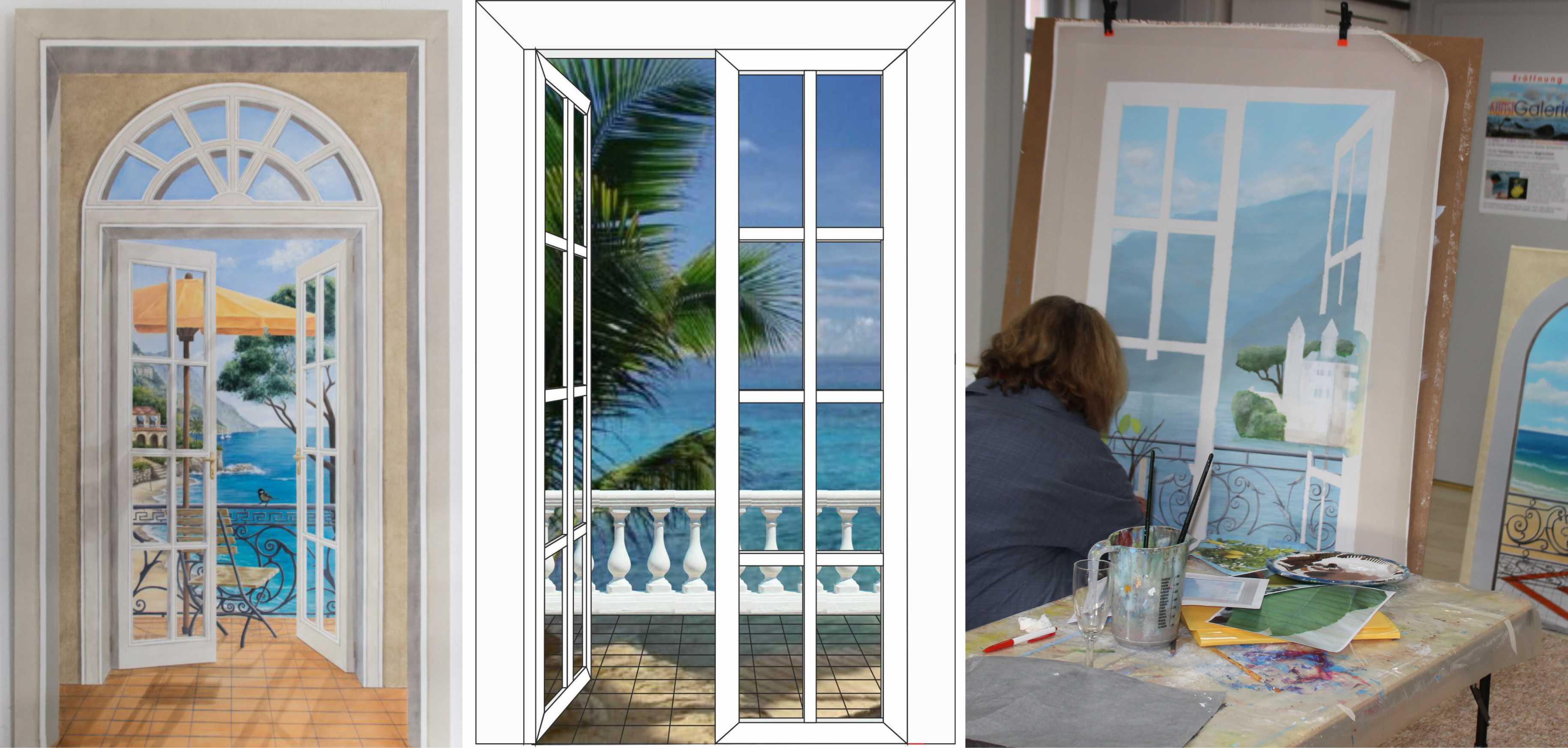 Kurs Trompe l'oeil II (Illusionsmalerei) für Künstler, Kunstakademie Wertheim, Akademie für Fotorealismus, Atelier Leoni