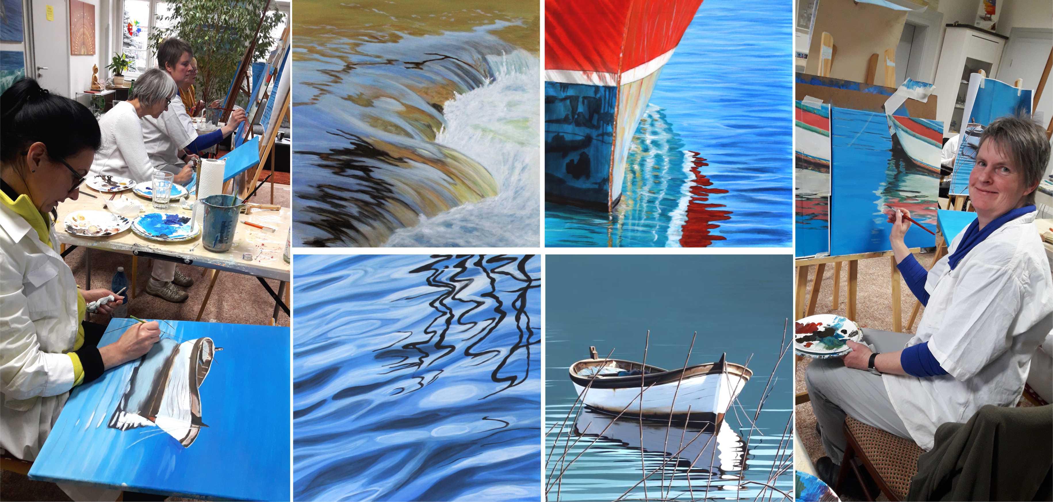 Kurs Wasserspiegelungen für Künstler, Kunstakademie Wertheim, Akademie für Fotorealismus, Atelier Leoni