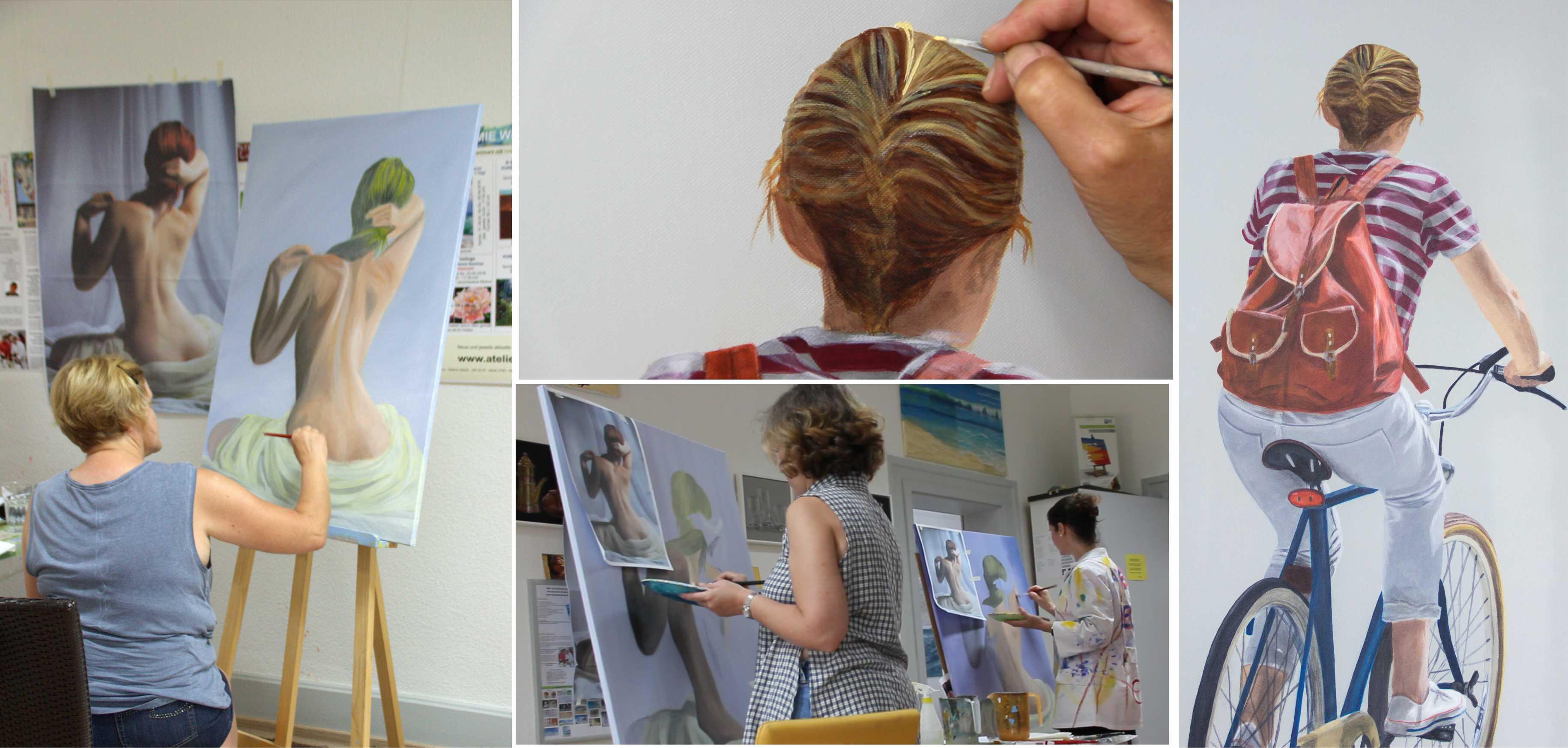 Kurs Figürlicher Realismus für Künstler, Kunstakademie Wertheim, Akademie für Fotorealismus, Atelier Leoni