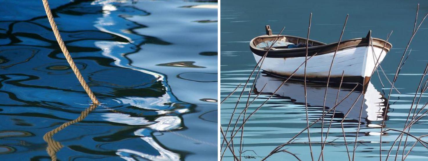 Kurs Wasserspiegelungen Kunstakademie Wertheim, Akademie für Fotorealismus, Atelier Leoni