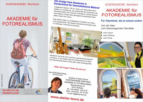 Informationsbroschüre Kunstakademie Wertheim, Akademie für Fotorealismus, Atelier Leoni